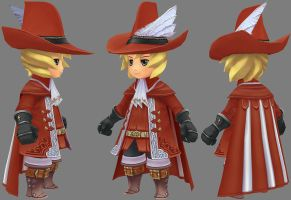 chibi char from FF III by parallelno