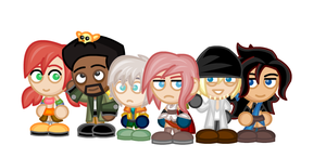 Chibi Final Fantasy XIII by LegendaryFrog