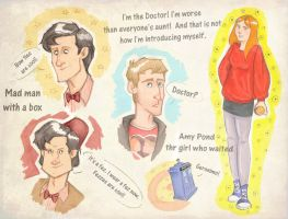 Doctor Who doodles by sn0otchie