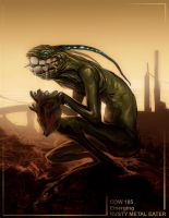 Rusty Metal Eater by SirenD