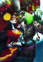 La Muerte and Xibalba by Stacheous