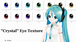MMD : 'Crystal' Eye Texture by Ayodan
