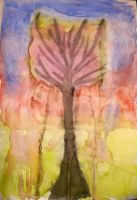 watercolor tree by ImagenBomb