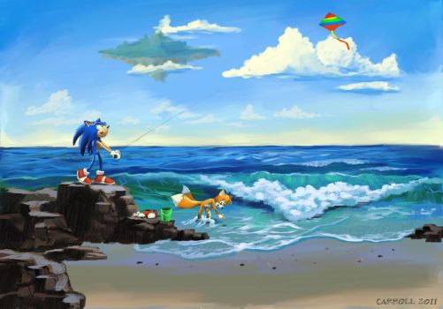 Day at the beach by NetRaptor