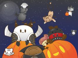 Halloween Character Soup Wall by lafhaha