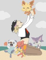 My Pokemon White Team! by Poetadoubleyou