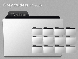Grey folder icons 13-pack by skippydippy