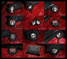 XIII Brooch and Earrings by NekroXIII