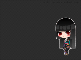 Chibi Enma Ai Wallpaper 1024x768 by Zukimime