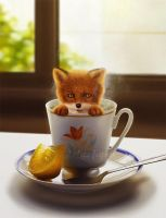 Fox tea by LuzTapia