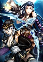 Collab - LoL Jinx and Ashe by GreenTea-Ice