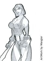 Bloodrayne commission 1 by Xenomrph
