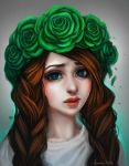 Green Roses by Junica-Hots