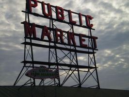 Pike Place Market Sign by bmw0522xxx
