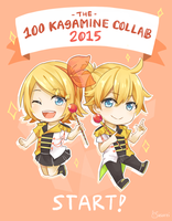 100 Kagamine Collaboration 2015 by usarei