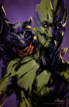Marvel Guardians - Rocket and Groot fan art by tomafeizogas
