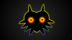 Majoras Mask glow silhouette wallpaper by Amber-Rosin