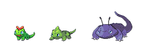 Pokemon Fusions - Chelbimeche and  evolutions by Loz-Jenova