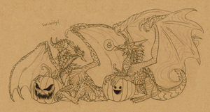 TOO SPOOKY PUMPKINS by DelusionalPuffball