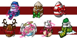 Christmas Egg Adopts (Open) by DevinDesign