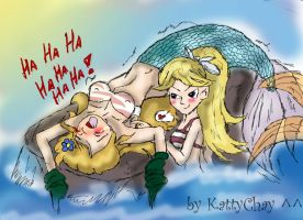 Mermaid tickling by KattyChay