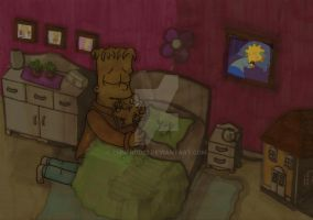 Bart And Maggie - Nightmare by ChnProd22