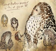 monster birds from planet Id by engraven