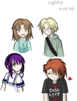 Megatokyo Characters colored. by TheCatSpanky