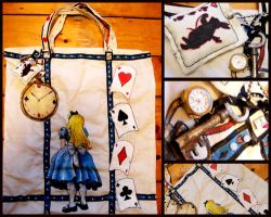 Alice in Wonderland Bag by morningpeasant