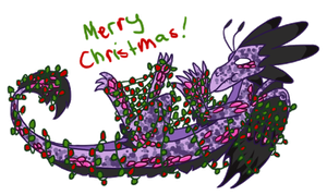 Festive Dragons by Remmis-AppleMaster