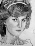 Portrait of Our Lady Diana, Princess of Wales by Darpansinghh
