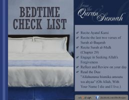 Bedtime Check list by abuKhashiyah