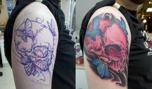 Pink Skull Coverup by truth-is-absolution