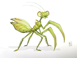 mantid mantis by Activoid