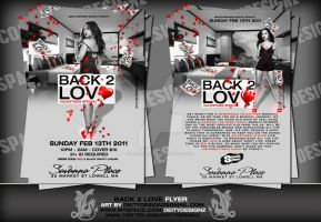 back to love flyer by DeityDesignz