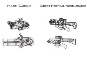 Sci-Fi Weapon Concepts by ModalMechanica