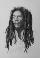 2015 'Bob Marley' - pencil on paper by sameoldkid
