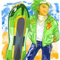 Jet in human form. by manaita