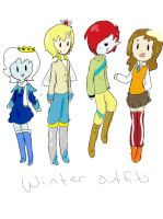 Winter Outfits by AskIce-Princess