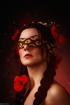 The Witcher - Flower portraits - Philippa by MilliganVick