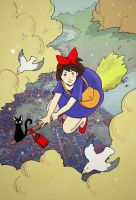 Kiki's Delivery Service by cheshirecatart