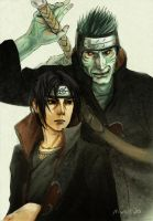Itachi and Kisame by Nivalis70