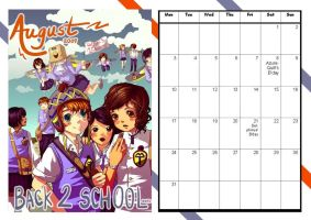 MT Calender: August by Manga-Tutorials