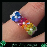 rainbow ring worn by green-envy-designs