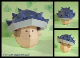 Spiky Mushroom - Papercraft by Lyrin-83