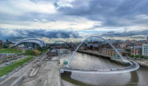 Newcastle Quayside HDR by KERphotography