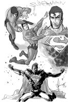 Superman_sketch by scabrouspencil