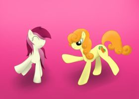 Carrot Top and Rose Luck by blackcat027