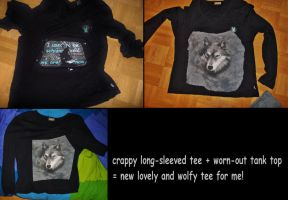About Wolves, Recycling and T-shirts by MoonyMina
