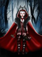 Little Red Riding Hood can take care of herself by Mai-Ja